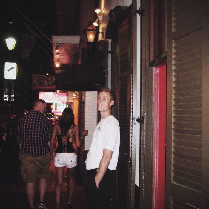 door guy at strip club on bourbon street
